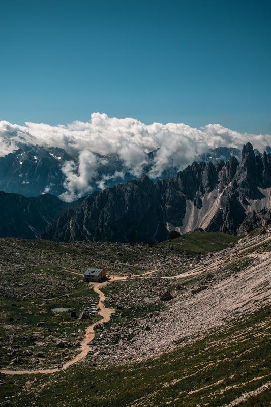 Blick zurück auf die Laveradohütte