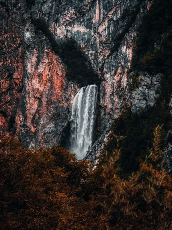 Wasserfall Boka Slowenien