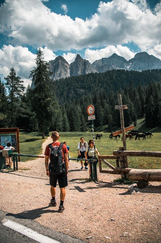 Startpunkt der Wanderung zum Sorapissee