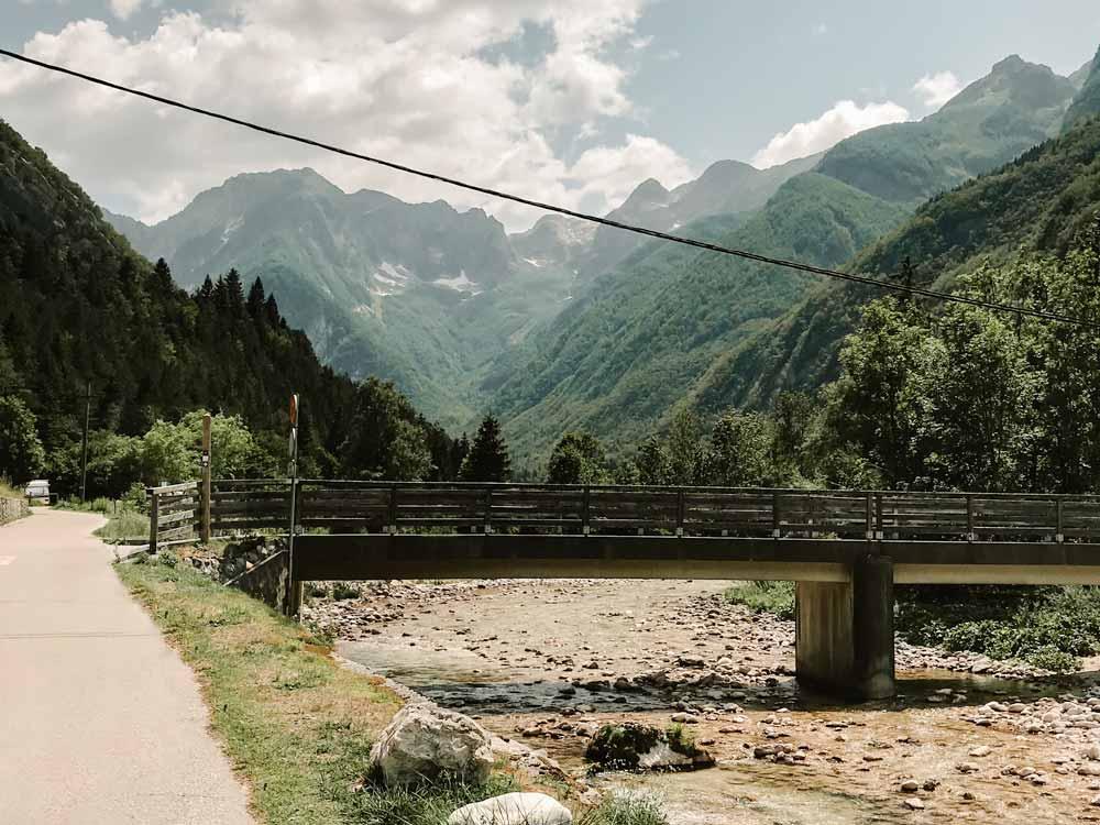 Brücke im Soca Tal