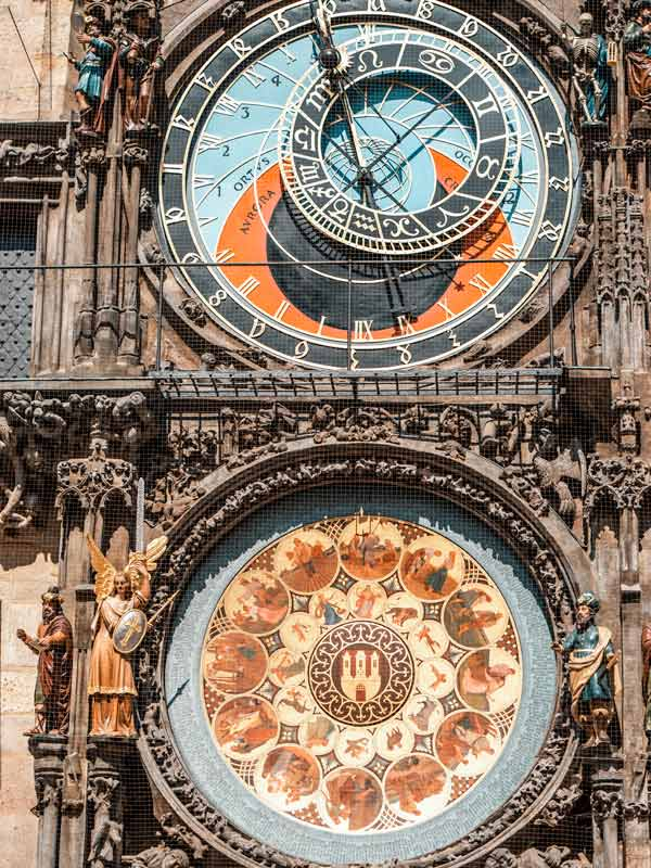 Prag Rathaus Uhr