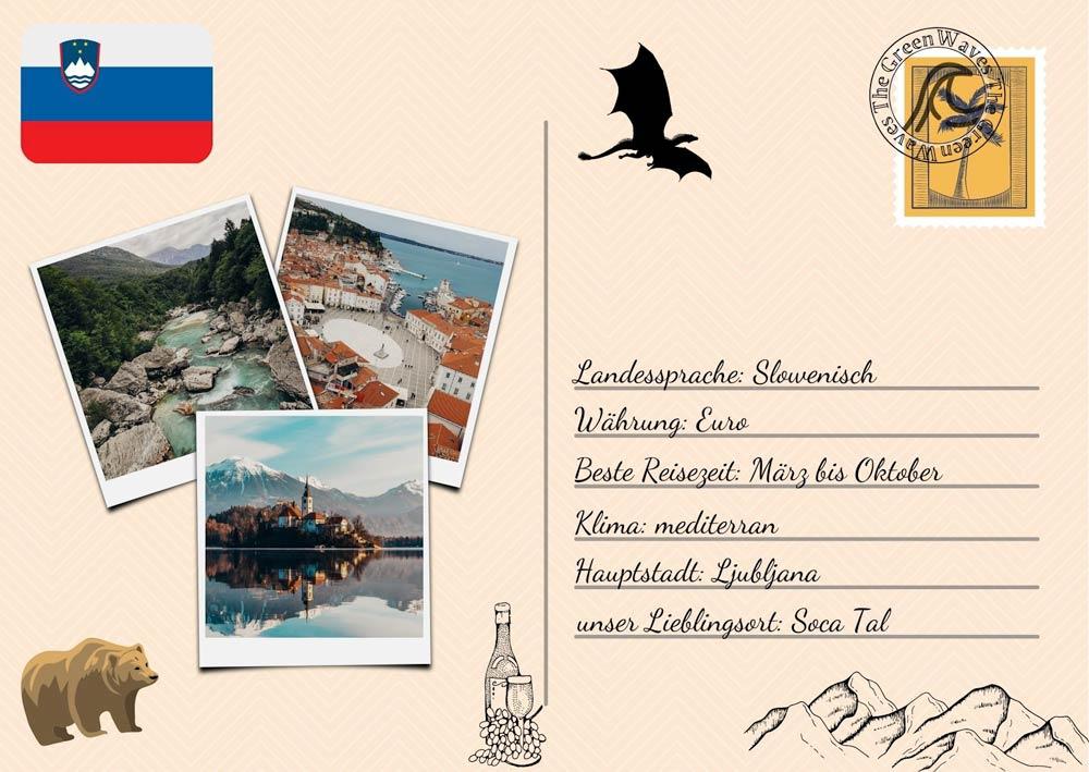 Slowenien Postkarte